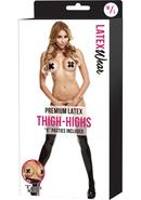 Premium Latex Thigh-highs W/x Pasties-bk