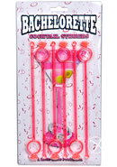 Bachelorette Cocktail Stirrers 6 Pack Pink