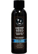 Earthly Body Hemp Seed With A Hint Of Fragrance And Body...