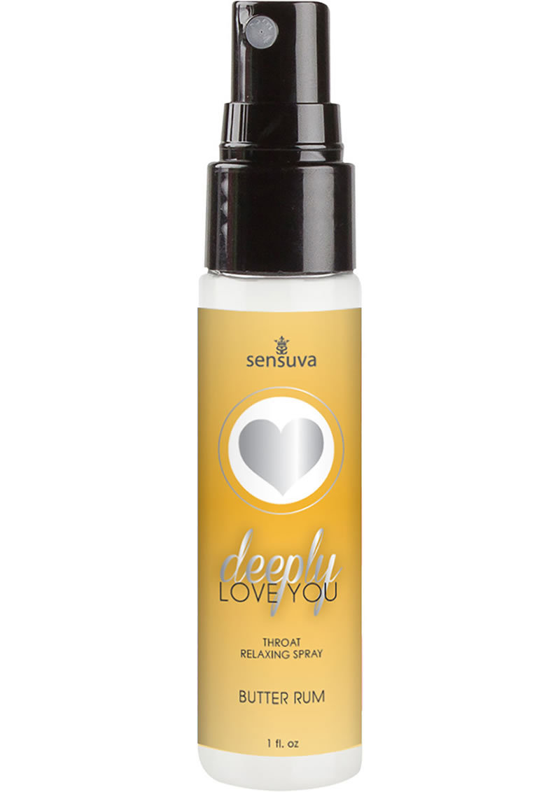 Deeply Love You Throat Relaxing Spray Butter Rum 1oz Spray